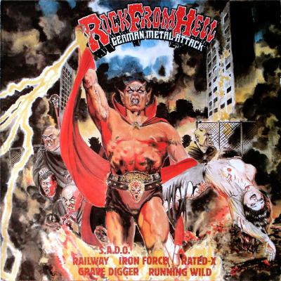 Download torrent Running Wild / Grave Digger / S.A.D.O. / Railway / Rated X / Iron Force - Rock from Hell - German Metal Attack (1983)